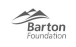 barton foundation black and white logo